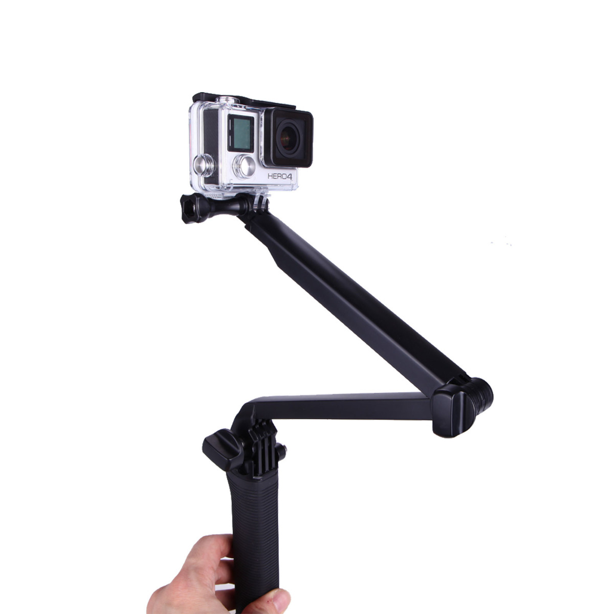 hand grip arm 3 way selfie stick tripod mount monopod for gopro hero 1 2 3 3 4 ebay. Black Bedroom Furniture Sets. Home Design Ideas