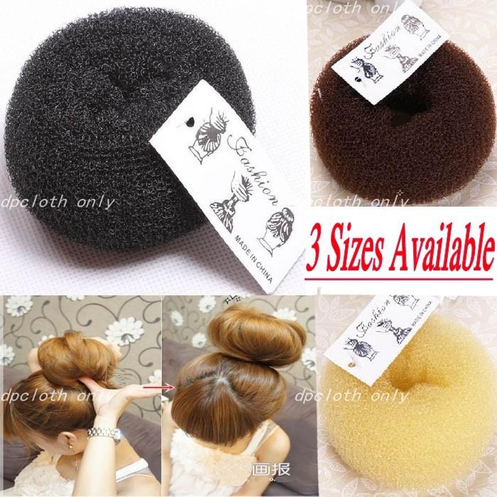 Hot-Sale-Hair-Bun-Donut-Ring-Sponge-Shaper-Maker-Builder-Hair-Styler-Tool-S-M-L