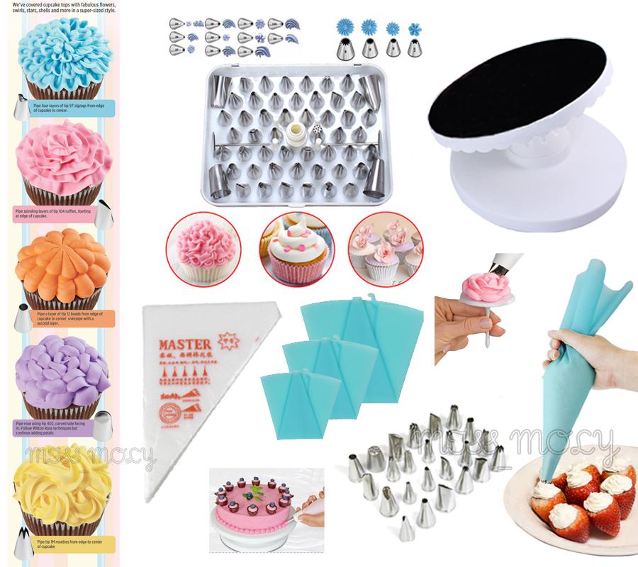 Decorate Cake Using Nozzle : Mix Fondant Cake Icing Decorating Nozzle Cupcake Cookie ...