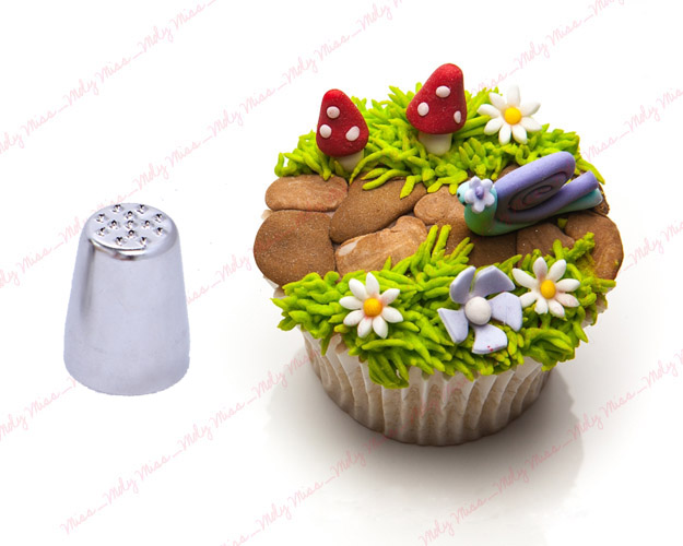 Cake Decorating Making Grass : GRASS HAIR PIPING NOZZLE FUR NEST ICING TIPS CUPCAKE CAKE ...