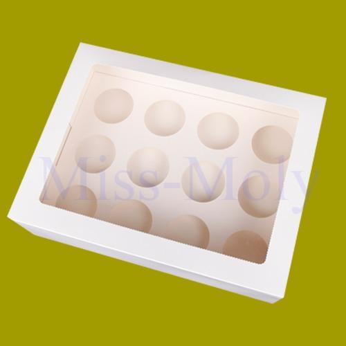 12 Cavity White Cupcake Box Insert Holder Wedding Birthday ...