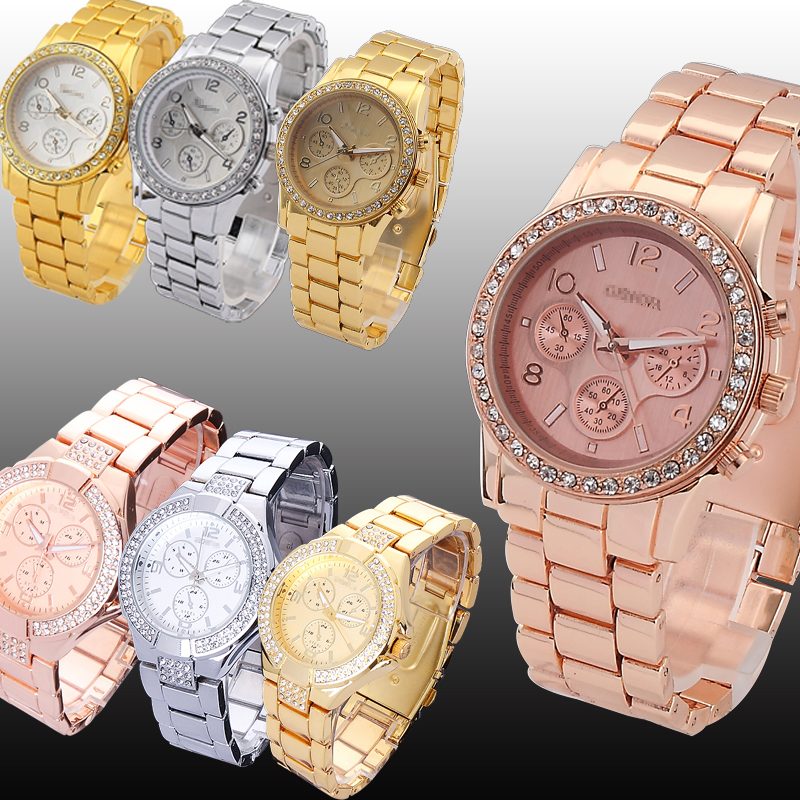 NEW-TOP-SALE-Luxury-GIFT-Mens-Rose-Gold-Silver-Quartz-m-Man-Bracelet-Wrist-Watch