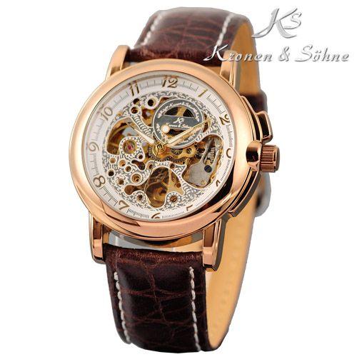 ks luxus skelett automatik armbanduhr mechanisch herrenuhr damenuhr uhr ebay. Black Bedroom Furniture Sets. Home Design Ideas
