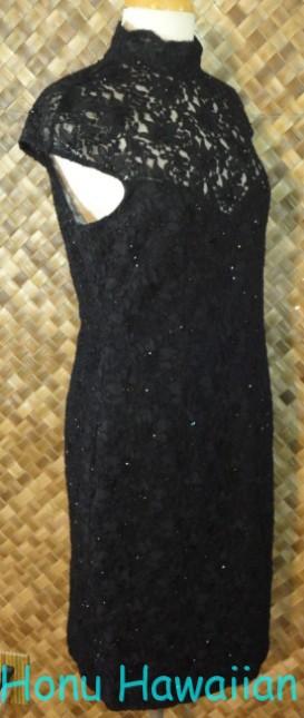 卡门marc和制造女性花边错觉黑色小礼服