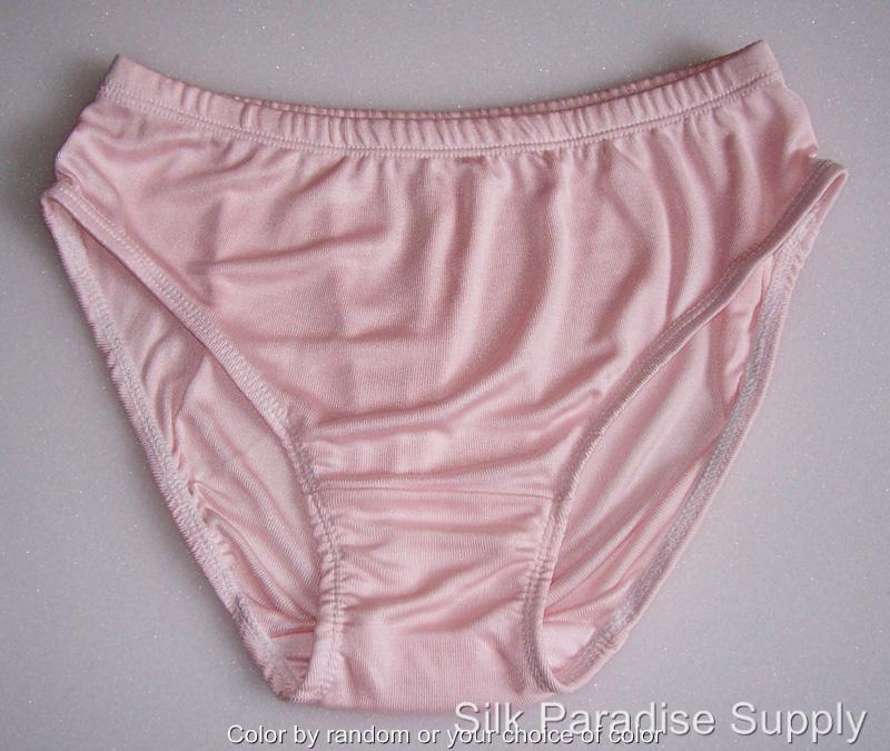 3 Pair Knit Pure Silk Womens Bikinis Panties Solid Size M L XL