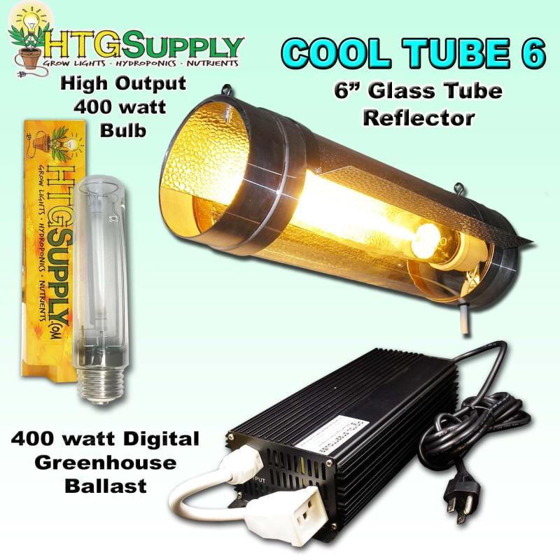 Digital 400 watt HPS GROW LIGHT w 6 Cool Tube cooltube
