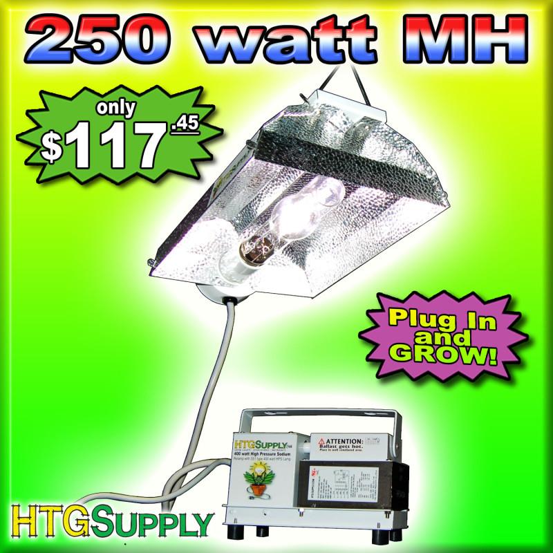 250 watt mh grow light system 250w metal halide w sun ebay. Black Bedroom Furniture Sets. Home Design Ideas
