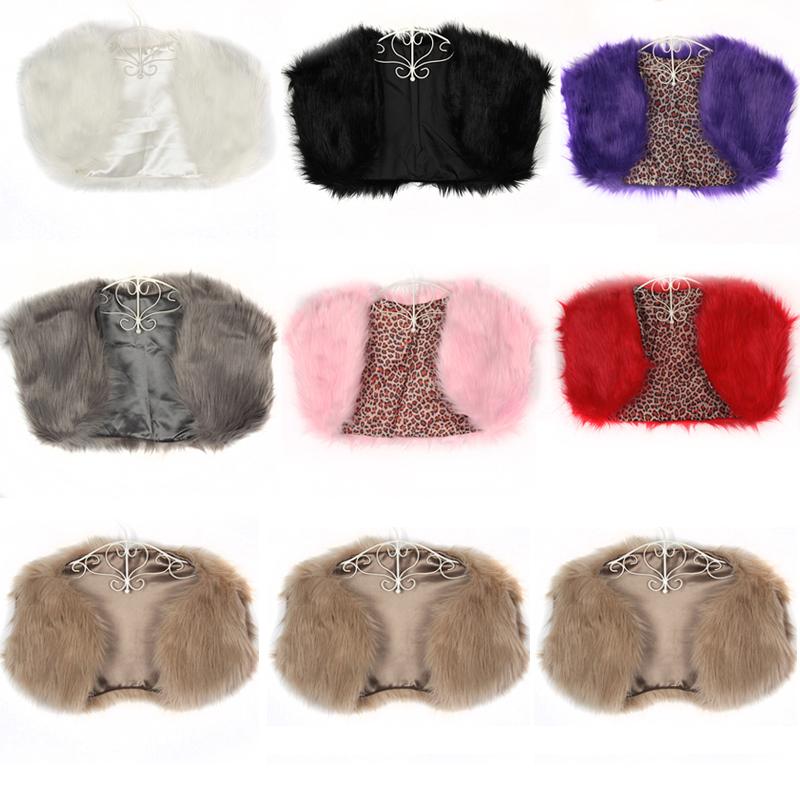 Wedding Bridal Party Faux Fur Wrap / Jacket / Shawl / Cape / Bolero / Shrug Coat | eBay