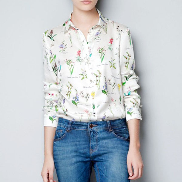 Ladies-Women-Retro-Vintage-Floral-Long-Sleeve-Collar-Blouse-Top-Shirt-in-White