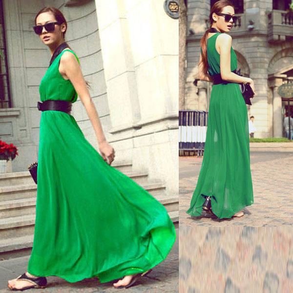 Tunic-Formal-Women-Sleeveless-Evening-Party-Chiffon-Long-Maxi-Dress-Beach-Skirt