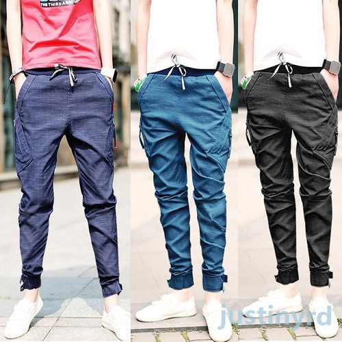 Luxury Boys Skinny Pencil Jeans Long Pants Cool Mens Straight Fit ...