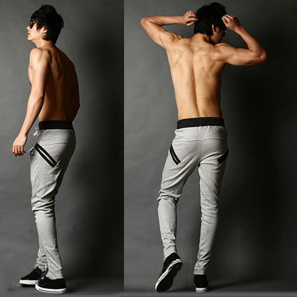 Cool-Mens-Jogging-Harem-Pants-Skinny-Slim-Fit-Training-Trousers-Sweatpants-S-M-L