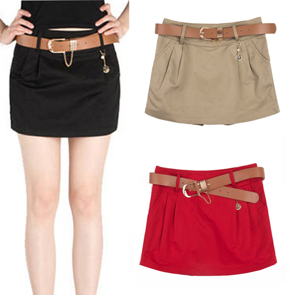cheap high waisted mini pleated skirt casual shorts