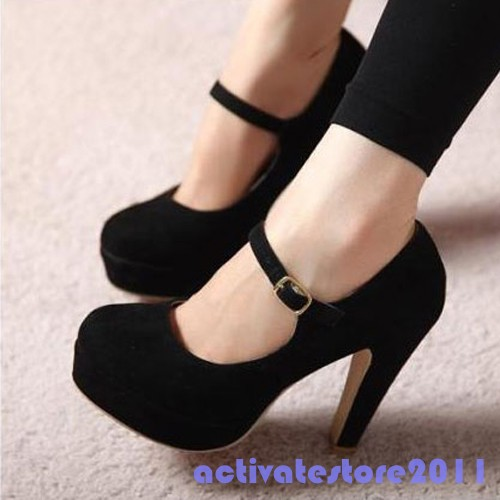 Sexy-Ankle-Strap-Mary-Jane-Platform-High-Heel-Stilettos-Suede-Pump-Womens-Shoes