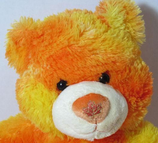 Workshop ORANGE AUTUMN TEDDY BEAR Stuffed Plush Animal BABW