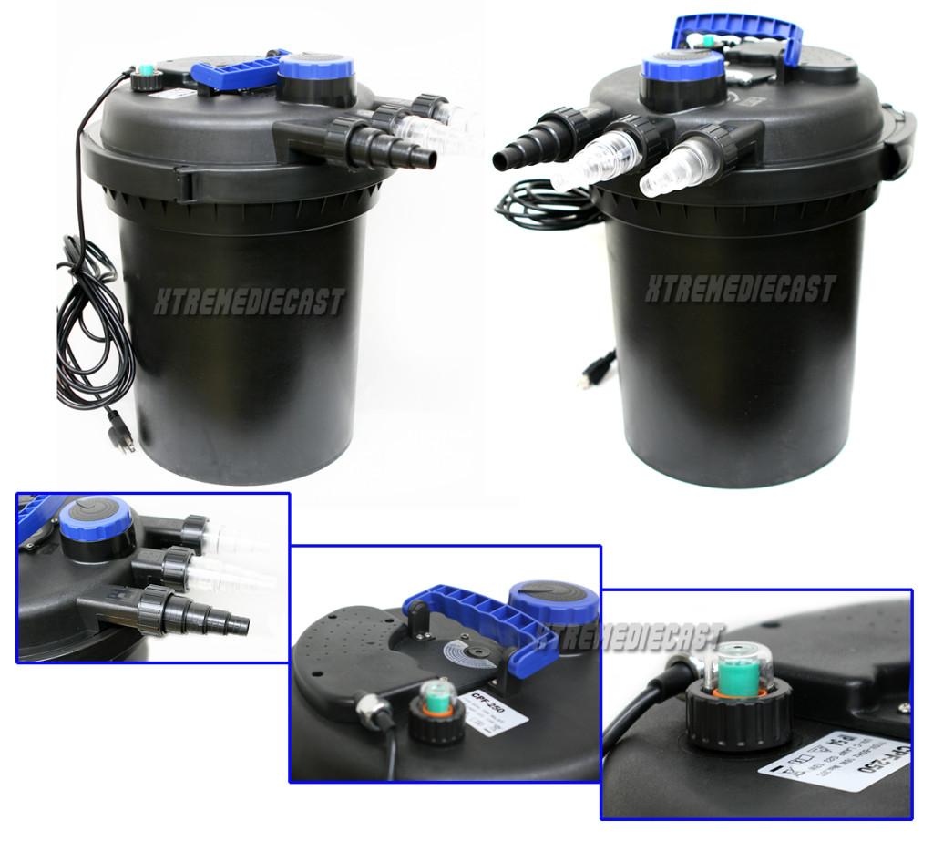 10000 Koi Pond Pressure Bio Filter Uv Sterilizer Multi Stage Filtration New Ebay