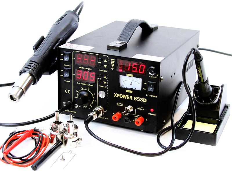 853d 3in1 smd soldering iron hot air gun rework station dc power supply digit. Black Bedroom Furniture Sets. Home Design Ideas