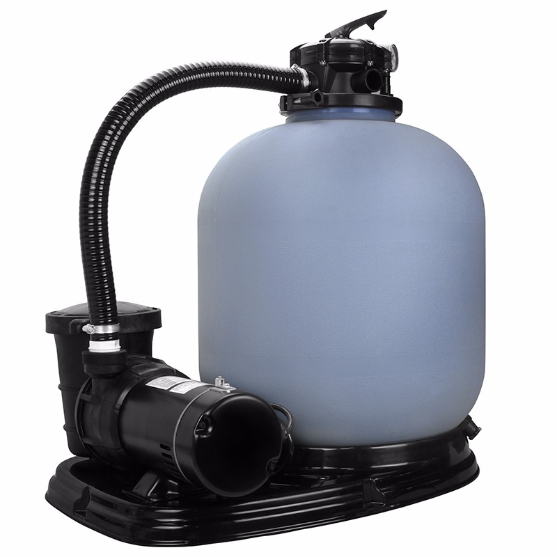 19 sand filter w 1 5hp set above in ground swimming pool for Inground pool pump and filter systems