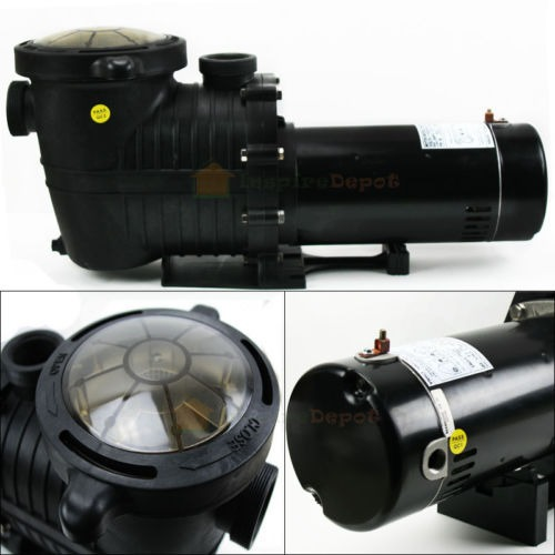 1 5hp in ground swimming pool pump motor w strainer high flo hi rate inground ebay for Swimming pool filter pump motors