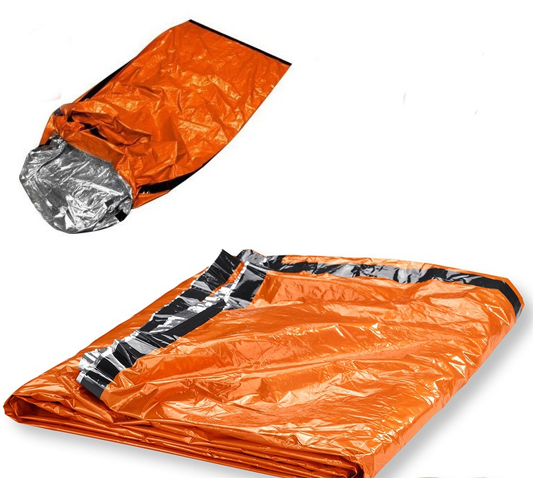 Emergency Aluminized Sleeping Bag Camping Outdoor Survival ...