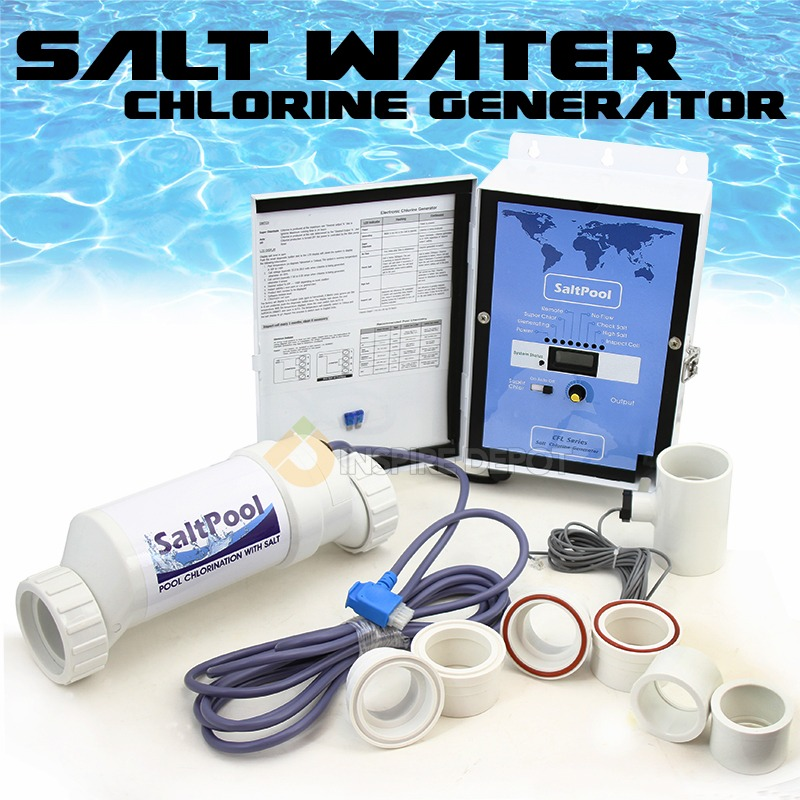 Salt Water Control Chlorine Generator Aqua Swimming Pool 40 000 Gal Chlorinator Ebay