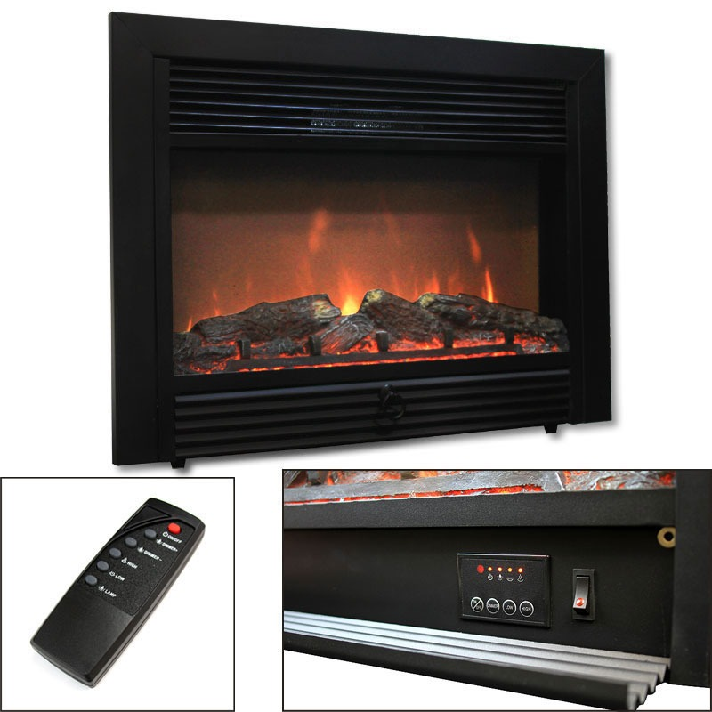 28 5 electric fireplace embedded heater insert log flame