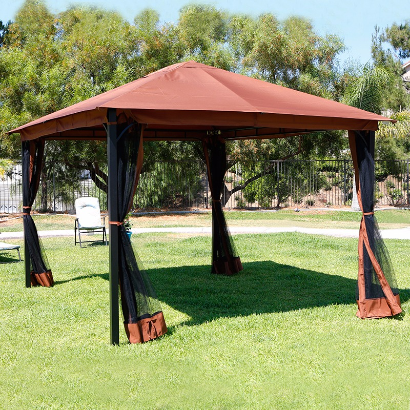 High Quality 10u0027 X 12u0027 Regency Patio Canopy Gazebo Mosquito Net Netting Aluminum Steel