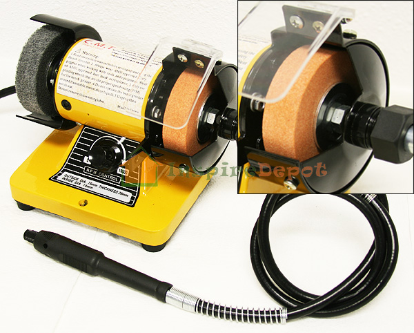 3 Mini Bench Grinder Polisher With Flexible Shaft 10000rpm Portable Adjustable