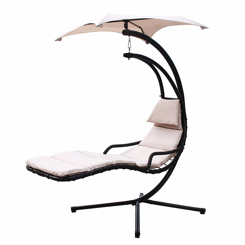 NEW Hanging Chaise Lounger Chair Arc Stand Air Porch Swing Hammock Chair  Canopy - NEW Hanging Chaise Lounger Chair Arc Stand Air Porch Swing Hammock
