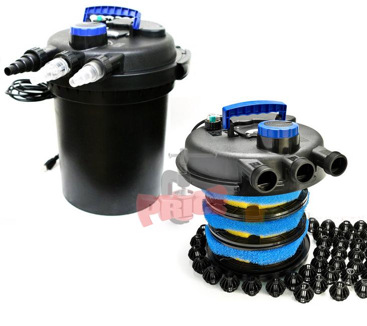 10000l koi pond pressure bio filter w 13w uv sterilizer for 100 gallon pond filter