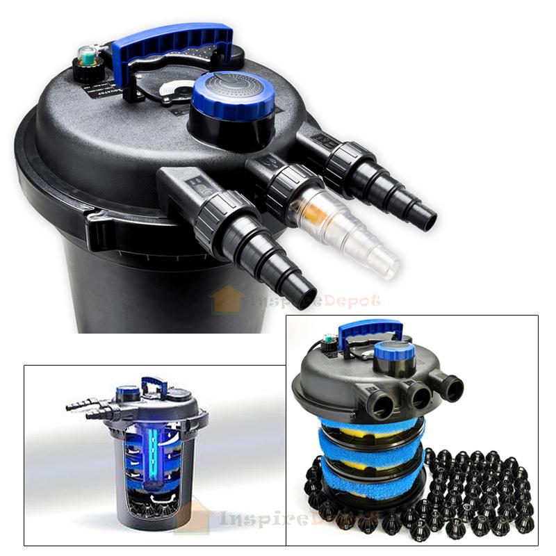 4000 pond bio filter 13v uv sterilizer biological for Mechanical pond filter