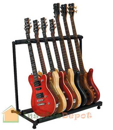 Electric Guitar Bedding on Multiple 7 Guitar Stand Rack Storage Electric Acoustic Guitar