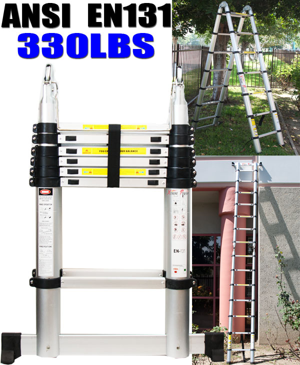 14 Aluminum Extension Ladder : Ft a type multi purpose extension aluminum telescopic