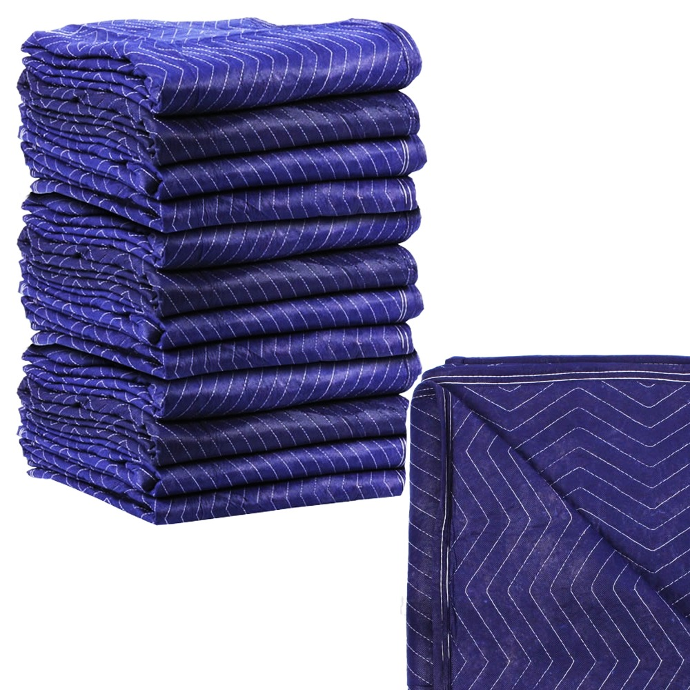 Lot 12 pc moving blankets padded furniture pads protection for Furniture moving pads