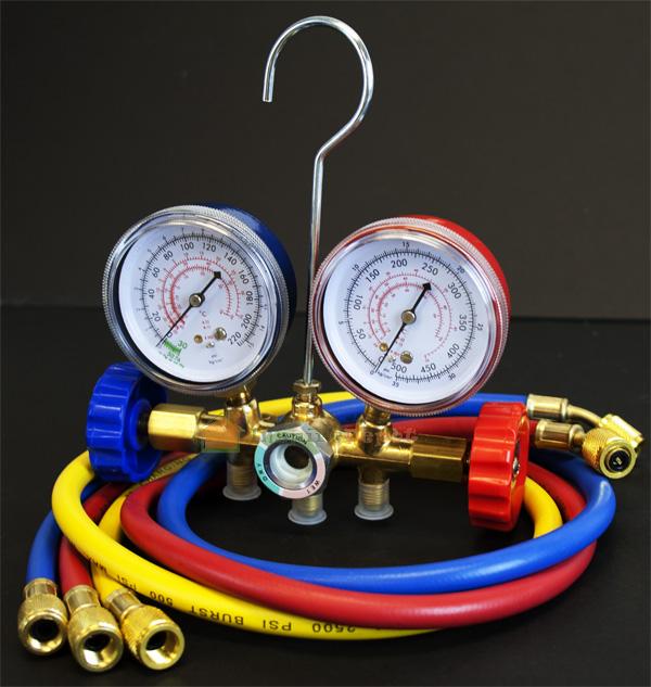 AC Manifold Gauge Set A C Tester Service Diagnostic Tools R12 R22 R502 w Hose