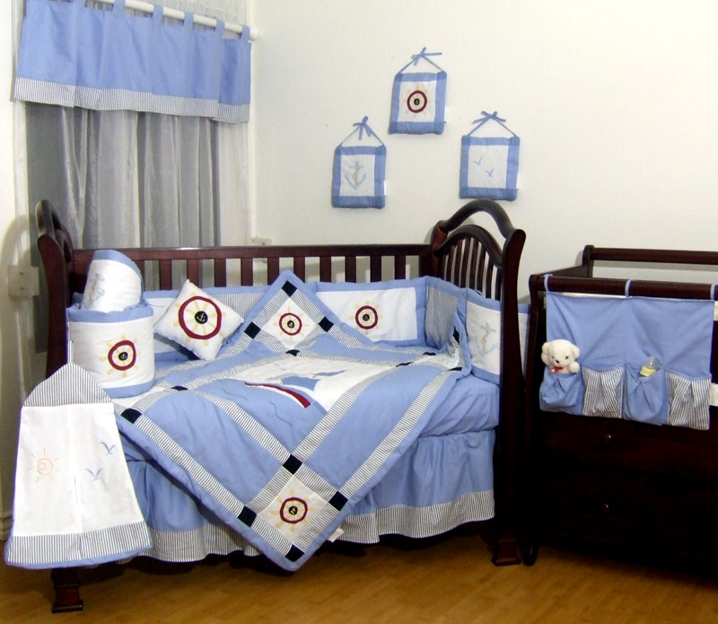 13pcs sail boat airplane baby bedding set toddler crib sheet wall hanging ebay - Airplane baby bedding sets ...