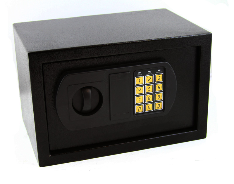 12 5 electronic digital lock keypad safe box home security gun cash jewel black ebay. Black Bedroom Furniture Sets. Home Design Ideas