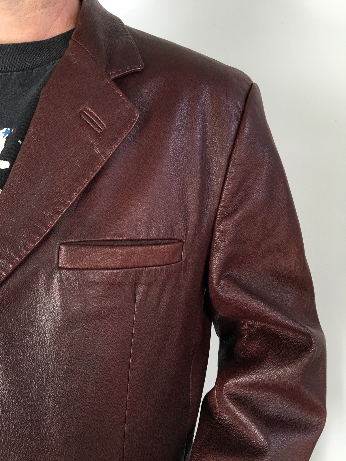 Leather jacket italy - Latini Mens Brown Leather Jacket Made In Italy Coat L 54 44 Usa High Quality