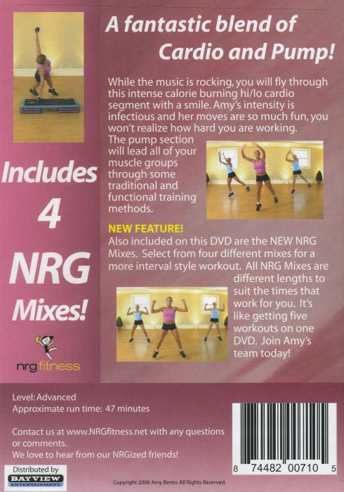 Details about AMY BENTO CARDIO PUMP HI LO WORKOUT EXERCISE DVD NEW ...
