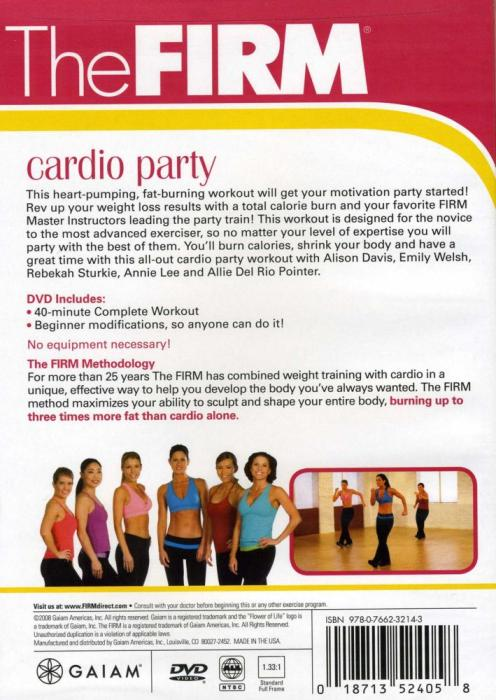 THE FIRM CARDIO PARTY AEROBIC EXERCISE DVD NEW SEALED | eBay