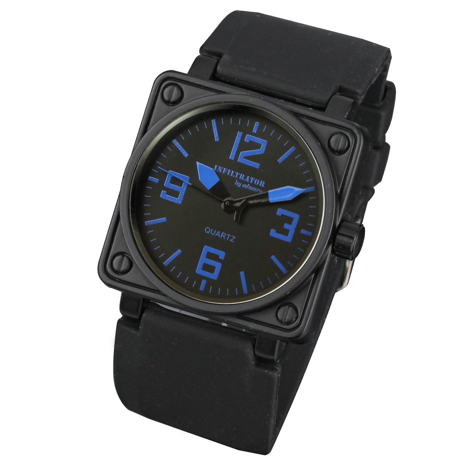 Blue-Fashion-Infantry-Outdoor-Mens-Military-Sport-Quartz-Rubber-Wristwatch-Watch