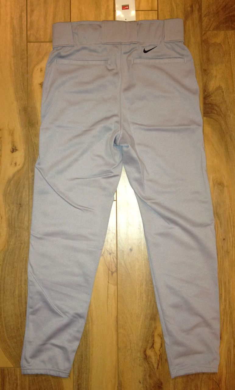 NEW-Mens-Sz-S-M-X-2XL-NIKE-Grey-Baseball-Softball-Conventional-Pants-Gray-NWT-sm