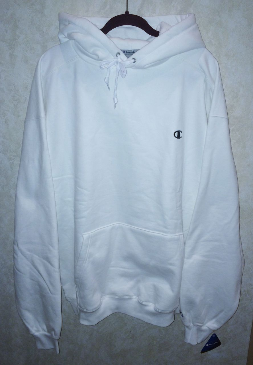 NEW Mens 3XL 4XL CHAMPION Super Hood White Fleece Pullover ...