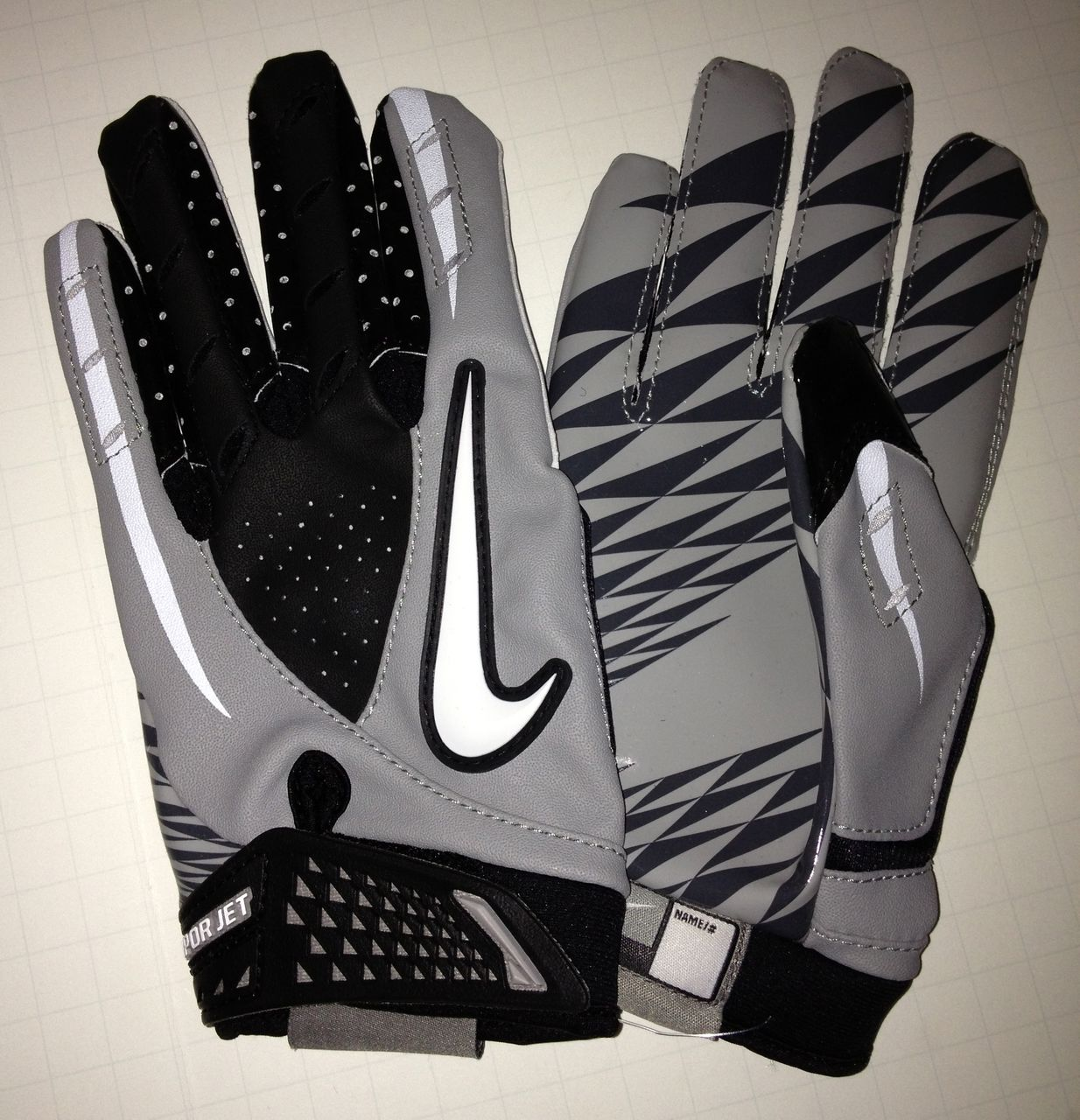Mens nike leather gloves - Image Is Loading New Mens L Nike Vapor Jet Skilled Players