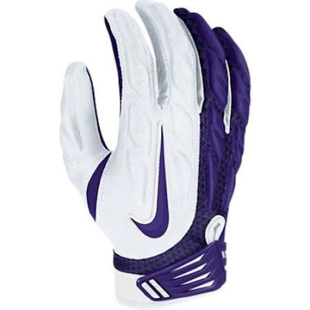 Nike Football Gloves: NEW Mens L XL NIKE SUPERBAD SG Purple White Football