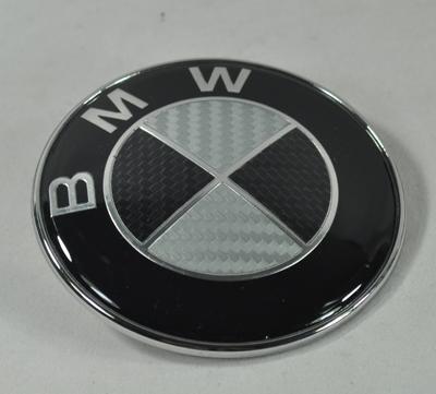 bmw emblem carbon e21 e23 e30 e34 e36 e38 e39 e32 82mm ebay. Black Bedroom Furniture Sets. Home Design Ideas