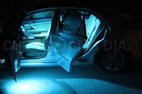 19 Pcs Bright Ice Blue Led Interior Light Kit For BMW 750li E65 E66 Canbus 03 08