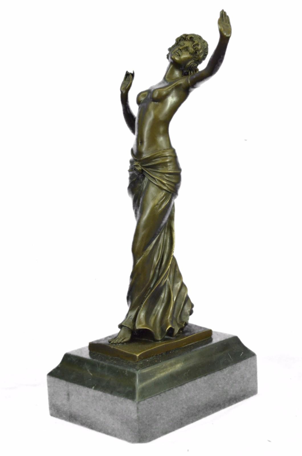 100% Bronze Statue Nude Actress Dancer Jazz Club Italian