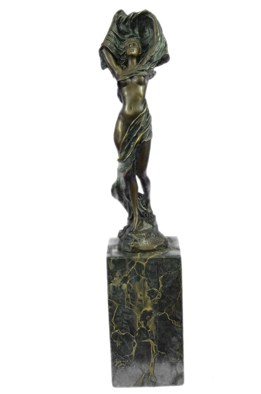 雕塑艺术新装饰裸体女孩铝青铜雕塑