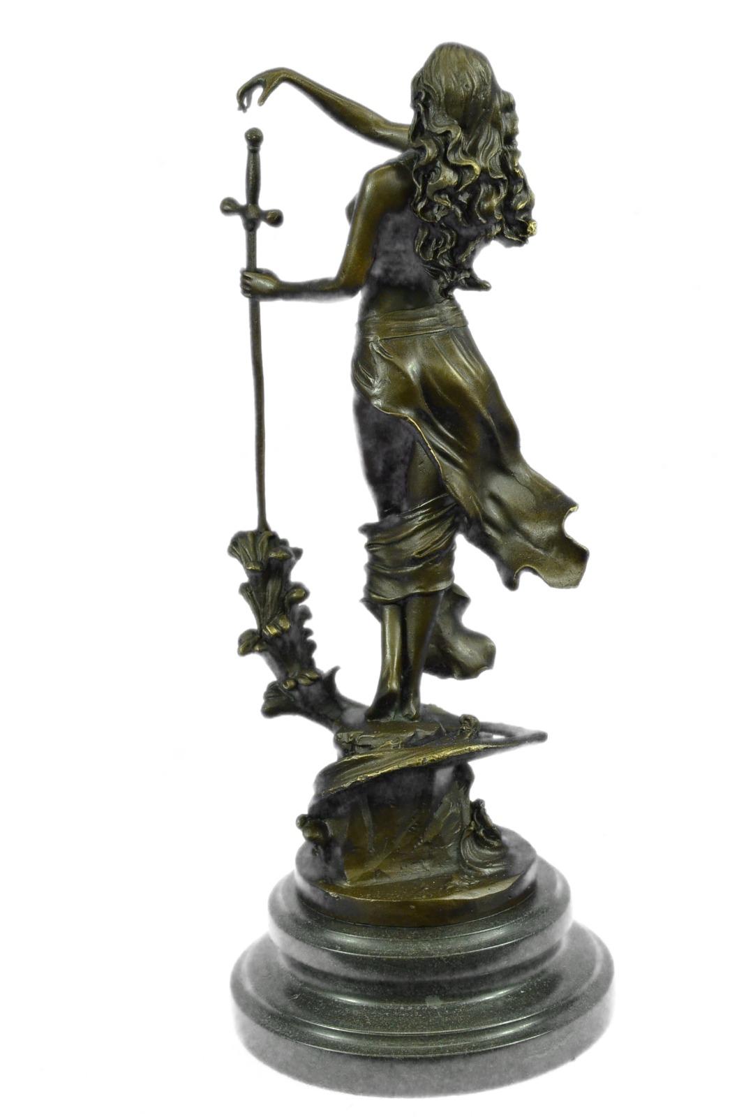 Original Justice Lady Nude Female Bronze Sculpture